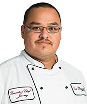 Jeremy Montoya, Executive Chef, with Sierra Vista Assisted Living Team at Via Elegante